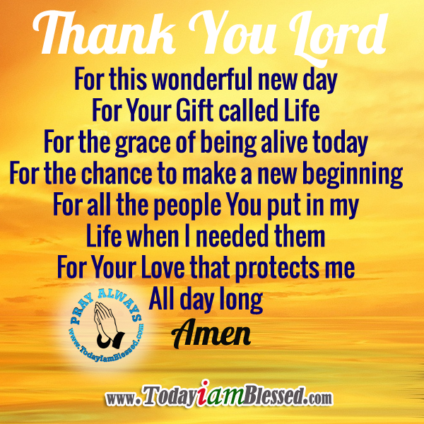 Thank You Lord For A Wonderful Day Archidev