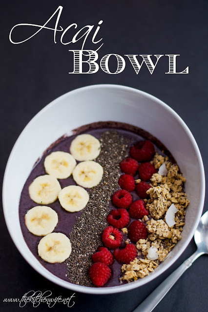 The acai bowl with the title above it.