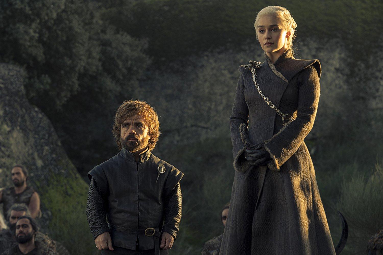 Peter Dinklage y Emilia Clarke en la séptima temporada de Juego de Tronos