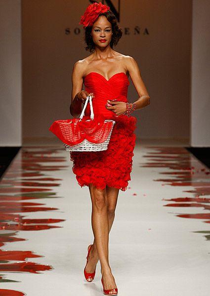 vestidos de novia rojos y cortos