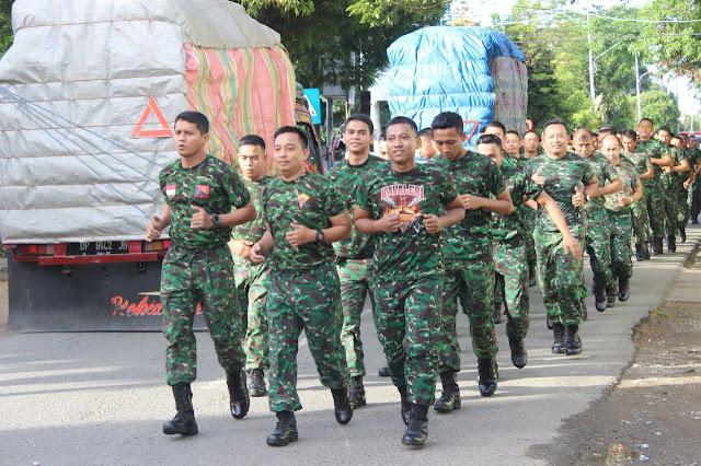 Sapa Rakyat, Personel Korem 141/Tp dan Balakrem Mengitari Kota Watampone