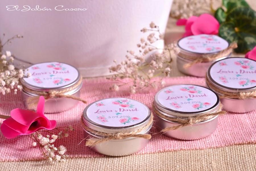 Detalles para bodas velas personalizadas