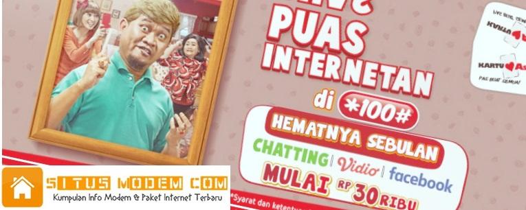 Mau BBM, LINE dan Whatsapp Puas, Langganan Aja Paket Internet Kartu AS Puas Internetan