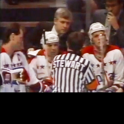 Like most officials, referee Paul Stewart had his share of verbal jousts with Murray. But away from the rink, Stewart described Bryan as a 'soft-spoken, intelligent gentleman.' (Book Pg. 255)
