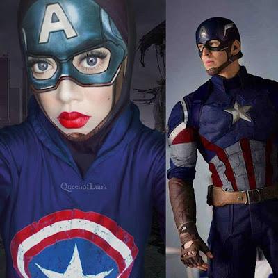 Gadis Cantik Berhijab Berdandan Menirukan 25 Tokoh Animasi Sampai Superhero, Keren Banget!