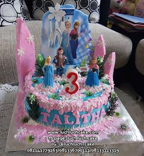 Frozen Birthday Cake Lucu dan Murah