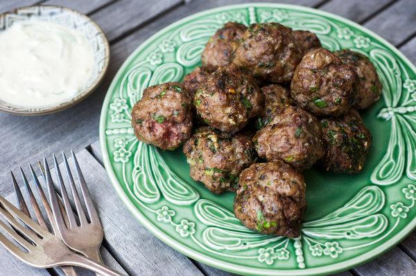 Cumin Lamb Meatballs With Tahini Yogurt Dipping Sauce Recipe