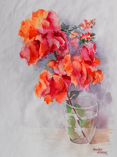 Bougainvillea by Sanika Dhanorkar (part of her portfolio on www.indiaart.com)