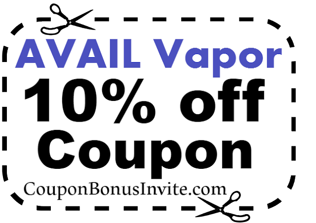 AVAIL Vapor Discount Code, AVAIL Vapor Coupon Code & AVAIL Vapor Promo July, Aug, Sep, Oct, Nov, Dec 2017-2018