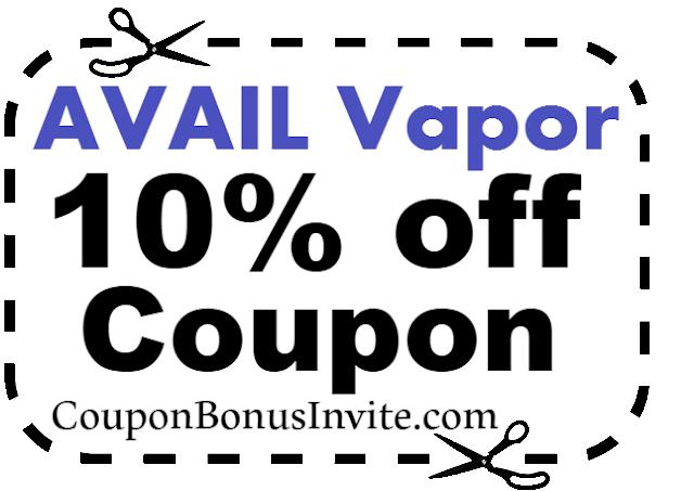 AVAIL Vapor Discount Code, AVAIL Vapor Coupon Code & AVAIL Vapor Promo July, Aug, Sep, Oct, Nov, Dec 2021-2021