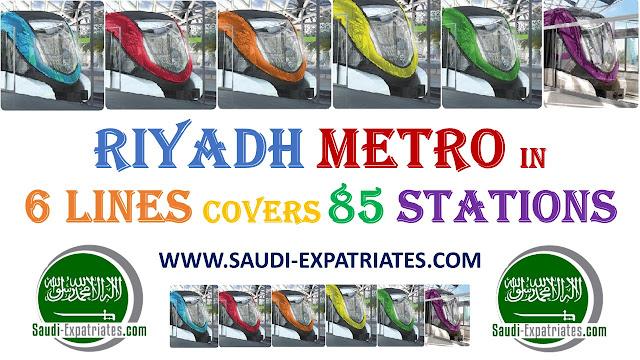RIYADH METRO 6 LINES 85 STATIONS