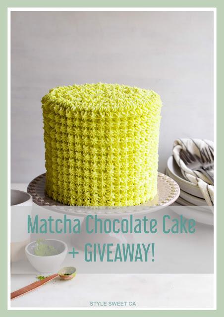 Matcha Chocolate Cake + GIVEAWAY!