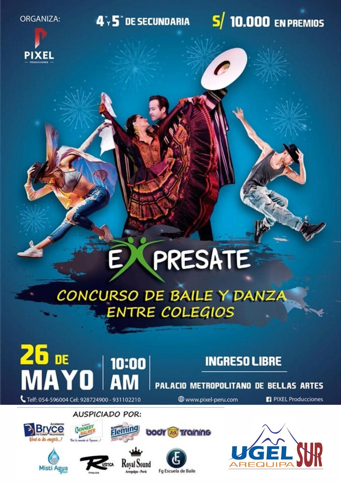 Expresarte: Concurso de baile y danza entre colegios de Arequipa