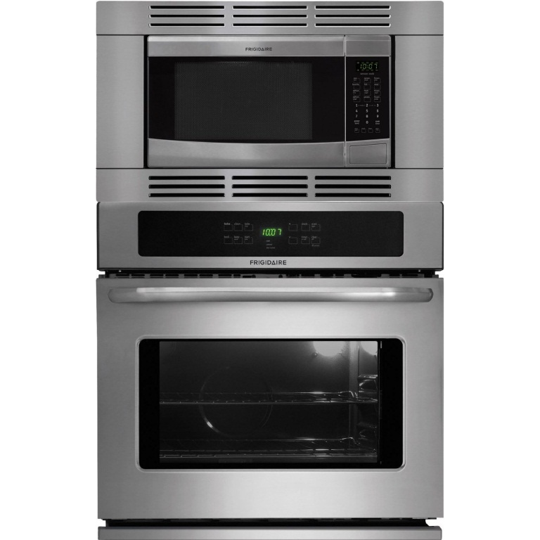 combination microwave wall ovens frigidaire 27 inch stainless steel 3 piece wall oven microwave combo ffew2725ls ffmo1611ls ffmotk27ls
