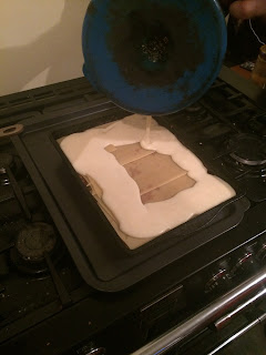 Add white sauce to lasagne