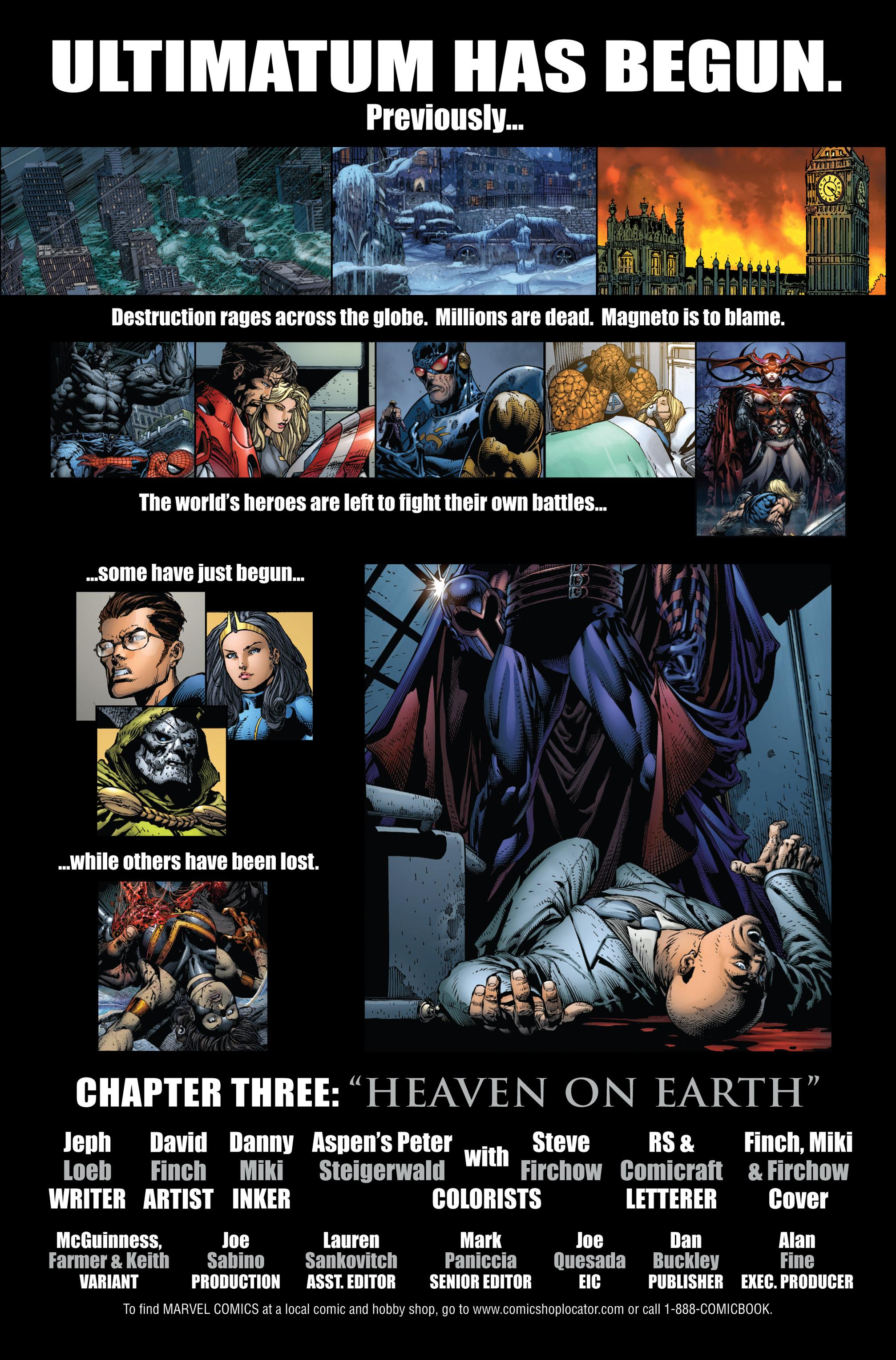 Read online Ultimatum comic -  Issue #3 - 2