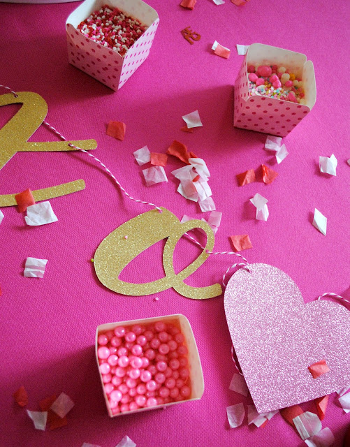 Gather your friends for a Galentine's Cookie Decorating party. More inspiration found at www.FizzyParty.com