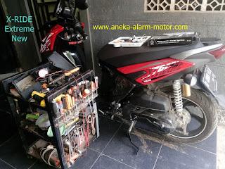 Cara pasang alarm motor X-Ride All New 125