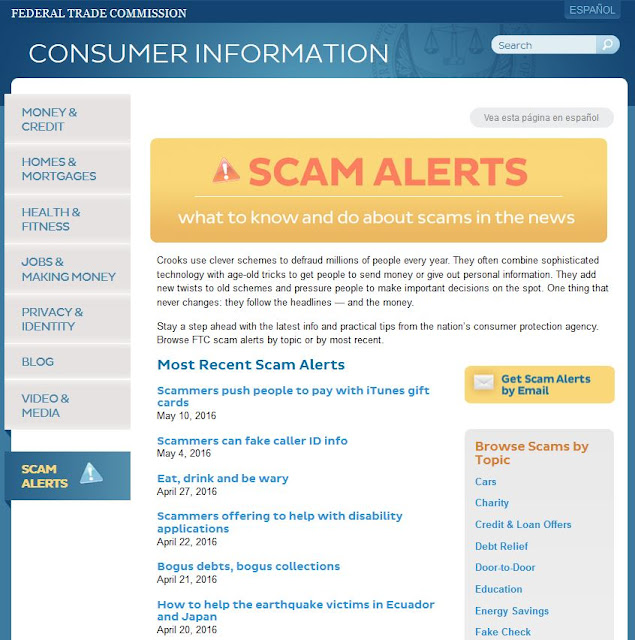 https://www.consumer.ftc.gov/scam-alerts