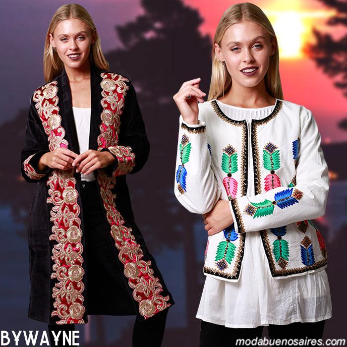 Kimonos, sacos, chaquetas boho hippie chic invierno 2019 moda invierno 2019. │Moda invierno 2019.