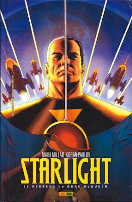 Starlight de Millar y Parlov, edita Panini Comics El regreso de Duke McQueen