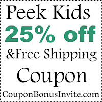 Peek Kids Discount Code 2017, PeekKids Coupon January, February, March, April