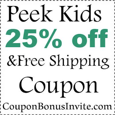 Peek Kids Discount Code 2017, PeekKids Coupon January, February, March, April