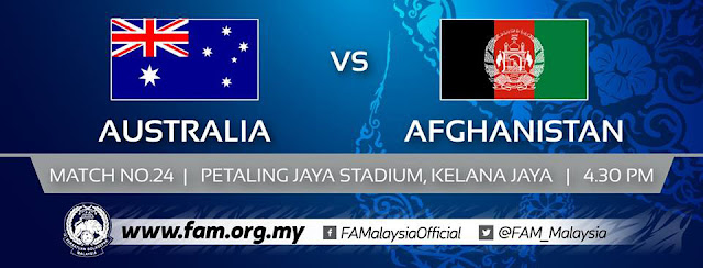 Live Streaming Australia vs Afghanistan AFC U16 28.9.2018