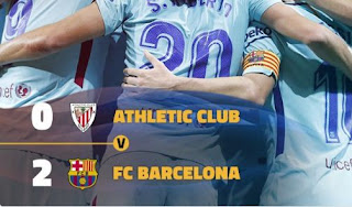 Athletic Bilbao vs Barcelona 0-2 Video Gol & Highlights.