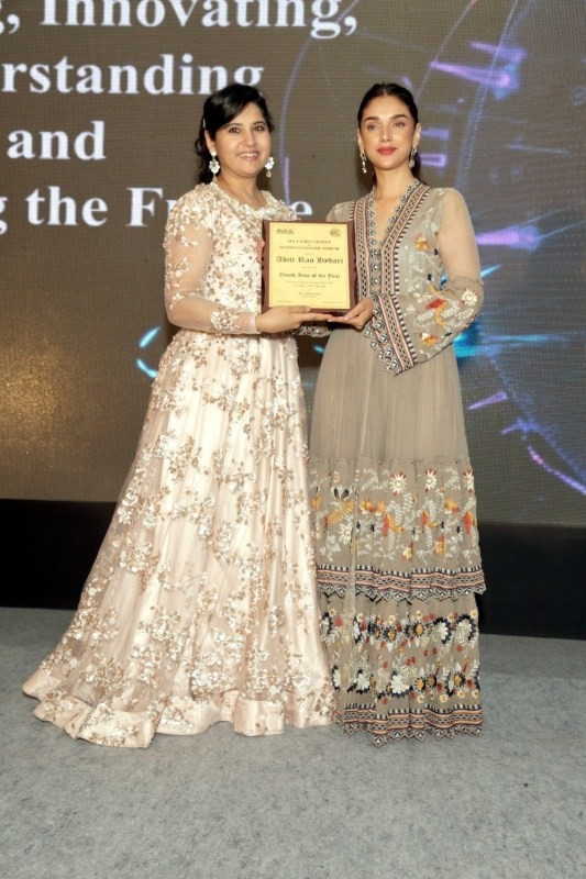 Aditi Rao Hydari Addressed Event of Women Economic Forum at Delhi