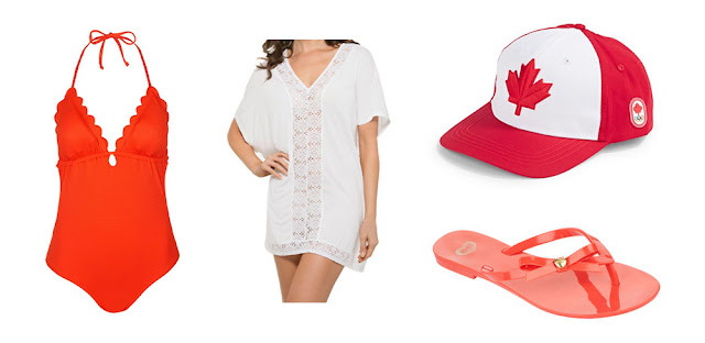 Canada Day Fashion Featuring Hudson's Bay
