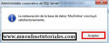 Base de datos restaurada correctamente