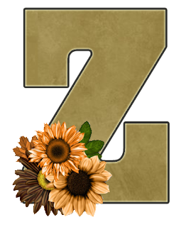 Abecedario con Flores Amarillas. Alphabet with Yellow Flowers.
