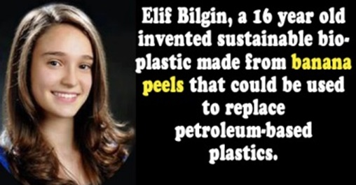 16 year-old Invents Sustainable Bioplastic from Banana Peels
