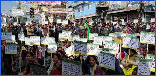 Anti BJP campaingn by Binay Tamang led GJM