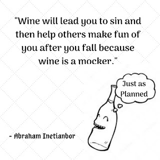 wine is a mocker
