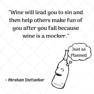 wine is a mocker