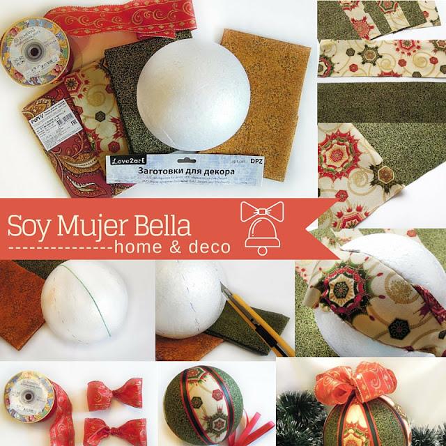 craft bola para el árbol de navidad