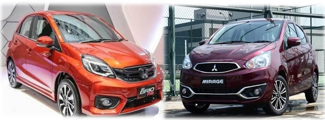 City Car New Brio VS New Mirage