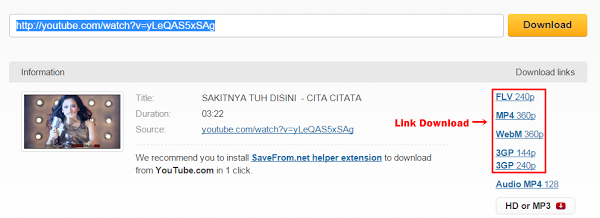 2 Cara mudah download video di youtube