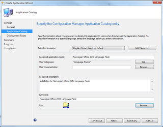 Office 2010 Language Pack Deployment in the Software Catalog for SCCM 2012 3