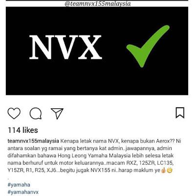 Kenapa disebut Yamaha NVX?