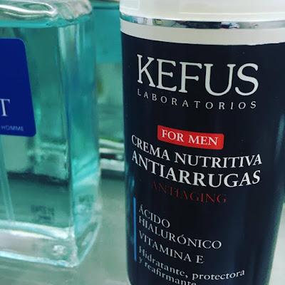 Crema Nutritiva Antiarrugas (antiaging) con Ácido Hialurónico y Vitamina E de Kefus.