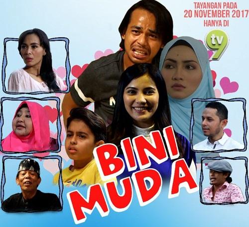 Sinopsis telemovie Bini Muda TV9 lakonan Zee Zainal, Aishah Azman dan Nina Iskandar, pelakon dan gambar telemovie Bini Muda TV9