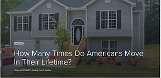 how many times do Americans move in their lifetime?