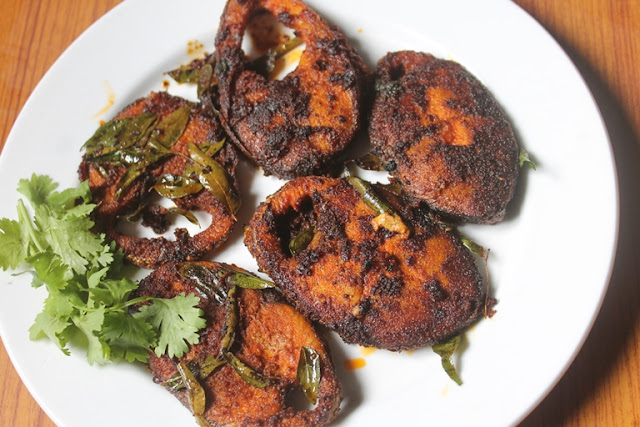Yummy tummy seer fish fry recipe fried king fish recipe for Fish fry ingredients