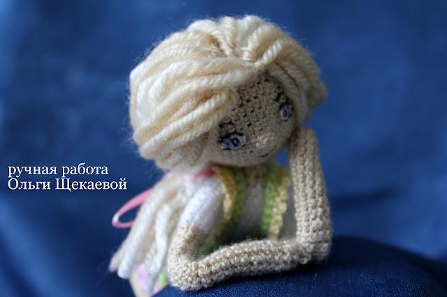 вязанная кукла, крючком