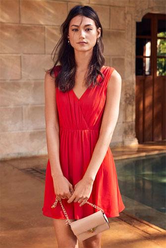 vestidos fiesta rojo H&M