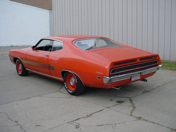 Ford Torino Gt Coupe   Auto Rare Competition Orange Black Bench Seat Interior New Tires Full Exhaust Rock Solid Carolina Vehicle