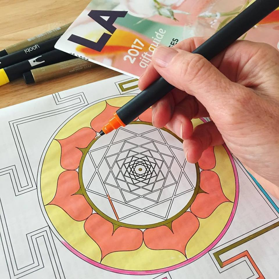 Adult Coloring with Meaning | LAND YOGA